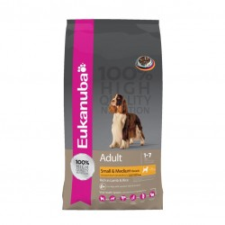 EUKANUBA ADULT SMALL & MEDIUM LAMB & RICE Sucha karma dla psów 1 kg