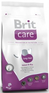 BRIT Care Cat Long Hair Salmon and Rice sucha karma dla kotów 2 kg